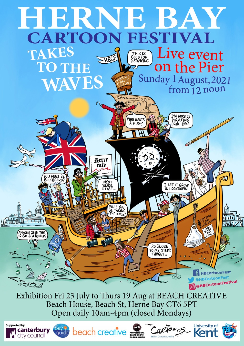 Herne Bay Cartoon Festival Takes To The Waves