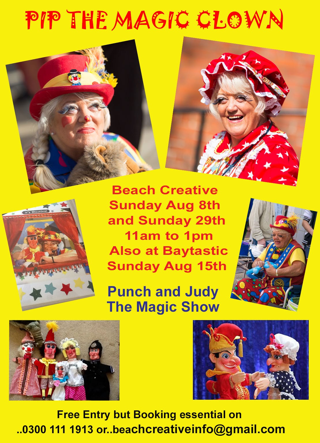 Punch and Judy and Magic with Pip The Clown