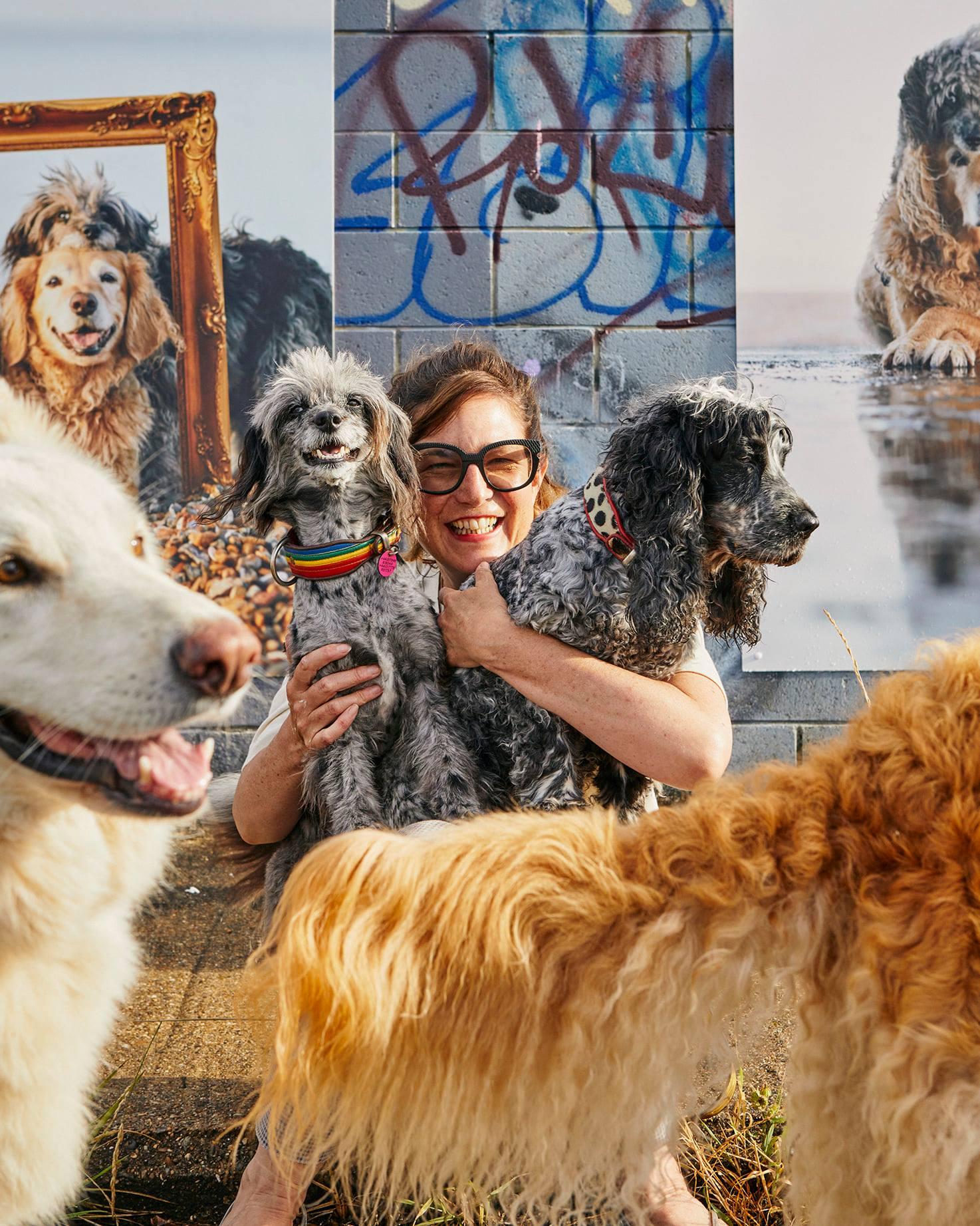 Liz Gregg and her wonderful dogs